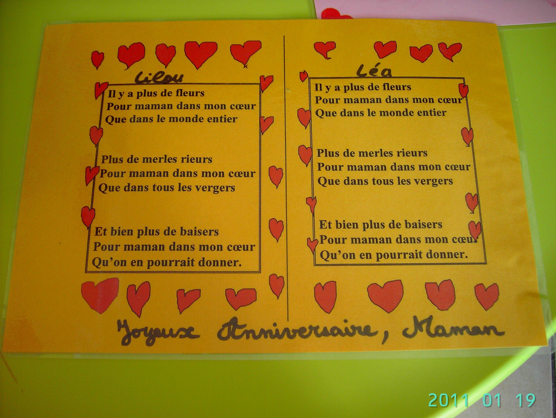 Poeme Pour Anniversaire